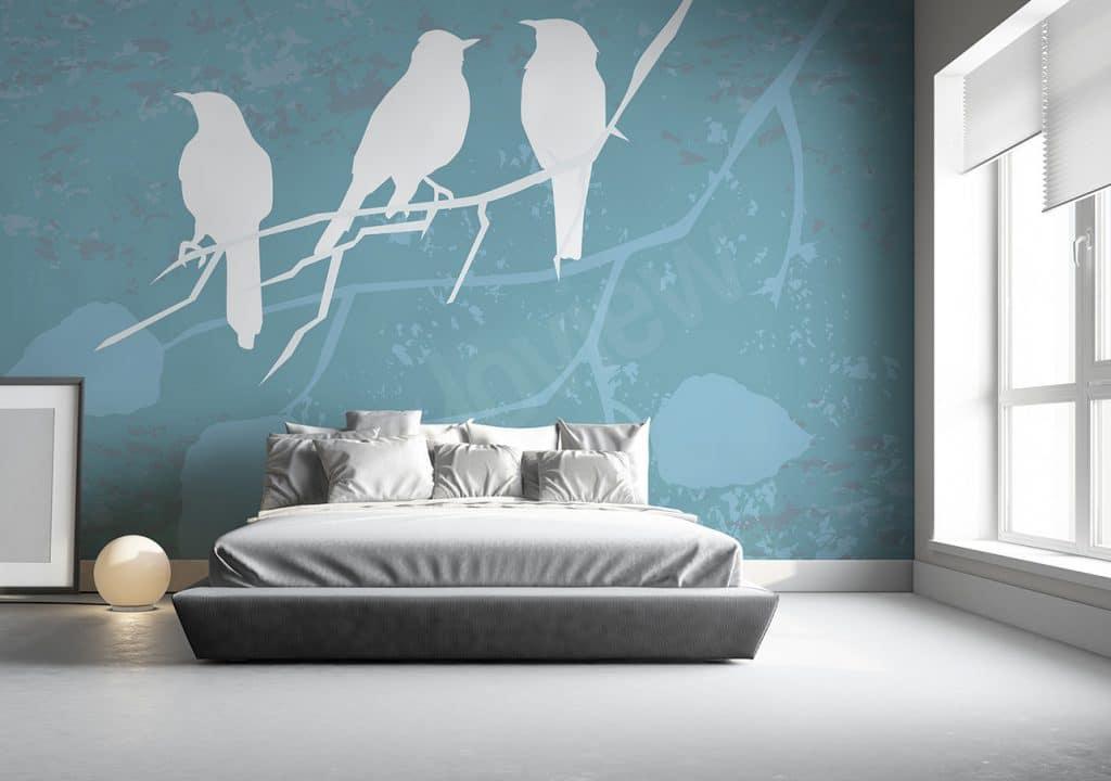 Quant aux amateurs de design industriel ils pourront choisir un tout autre motif de papier peint un salon dans un style loft requiert une décoration