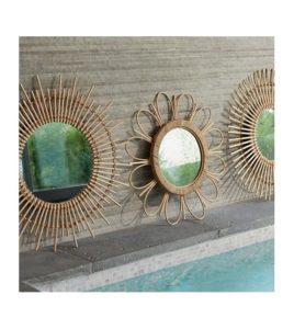 miroir en bambou 2