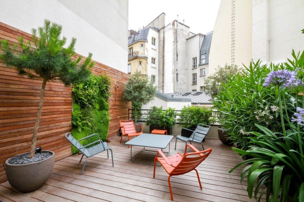 mur vegetal appartement